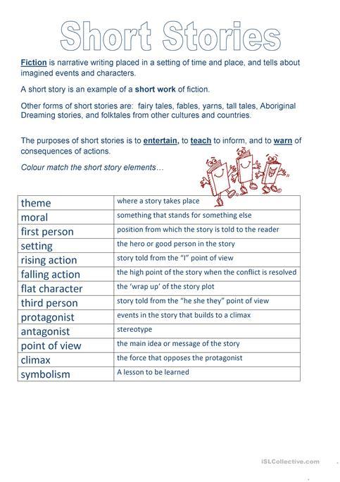 Short Story Elements Worksheet