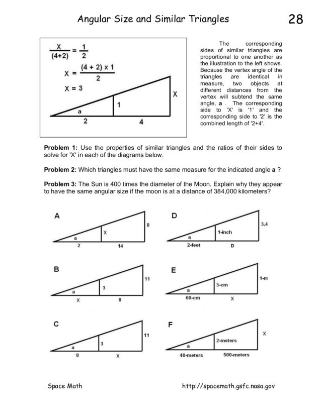Similar Triangles Worksheet Similar Triangles Worksheets