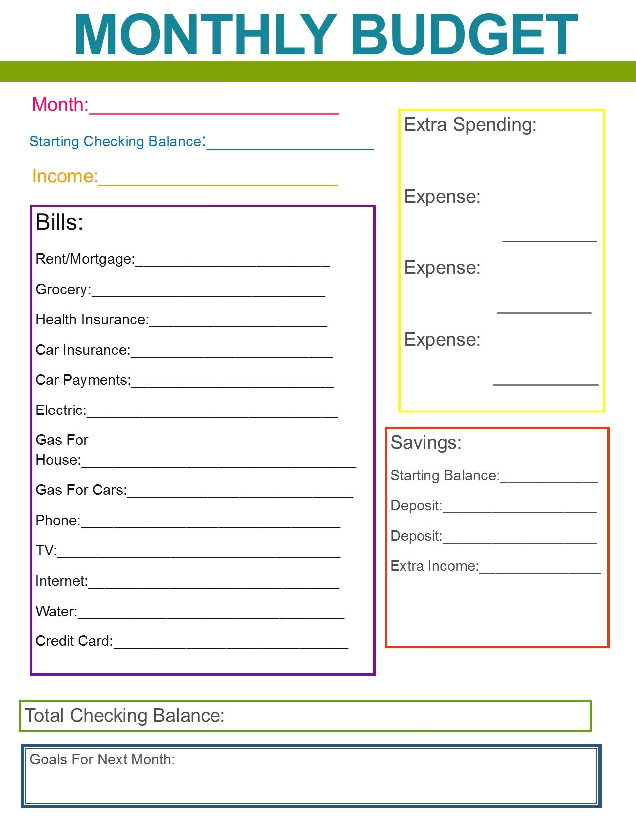 Simple Home Budget Worksheet Lovely Boxsome Page 4