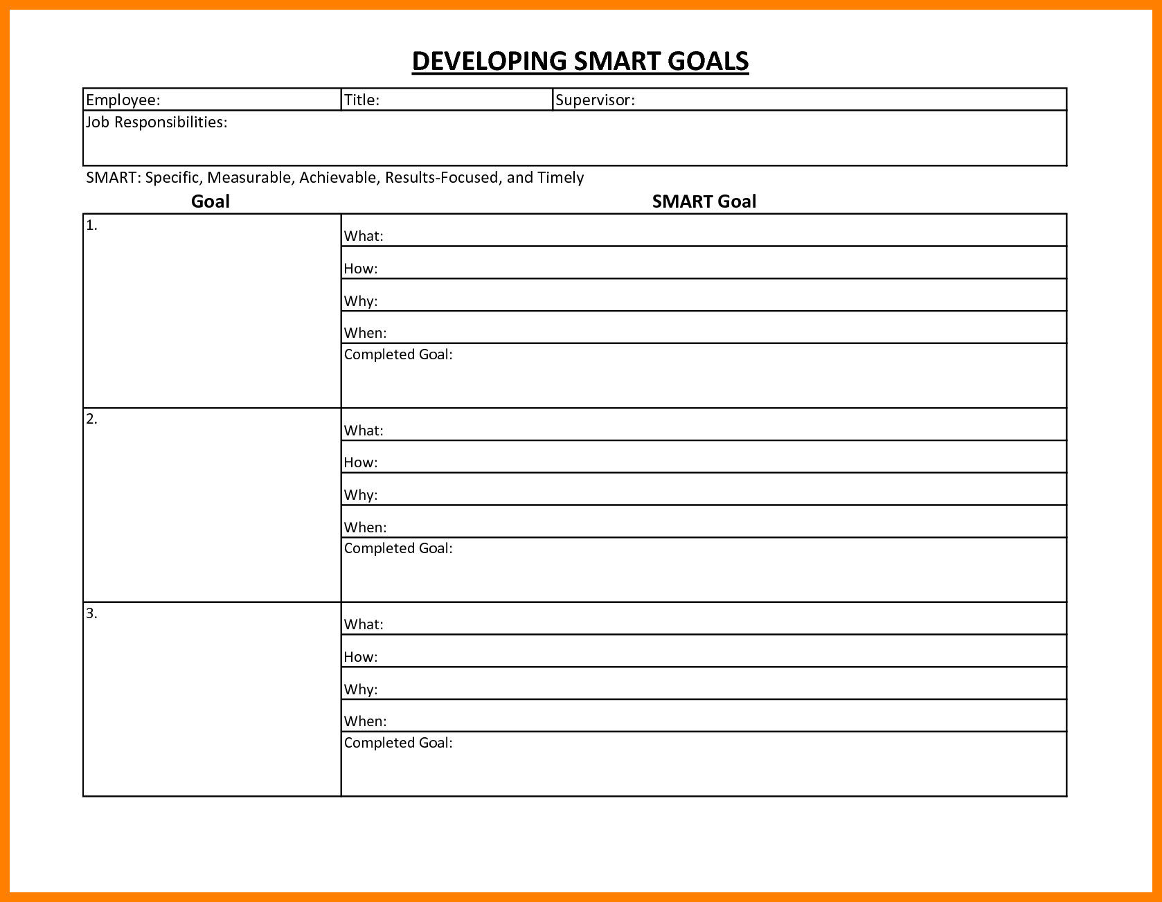 Smart Goal Worksheet The Best Worksheets Image Collection
