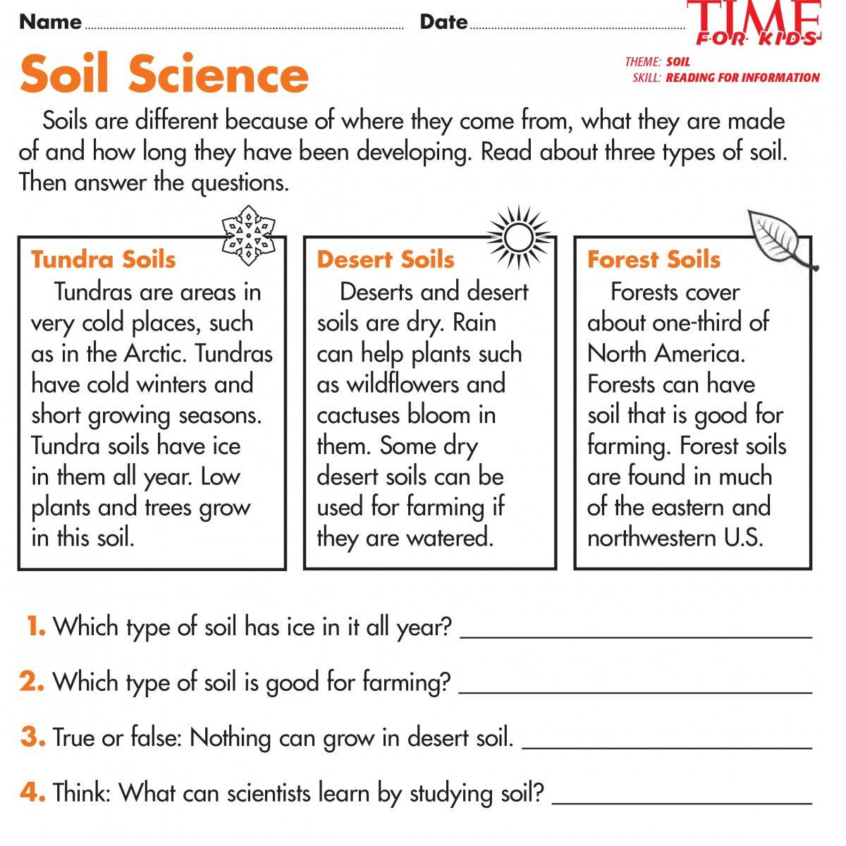 Soil Worksheets The Best Worksheets Image Collection