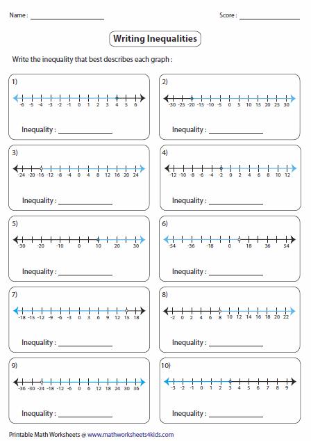 Solving Inequalities Worksheet Inequalities Worksheets