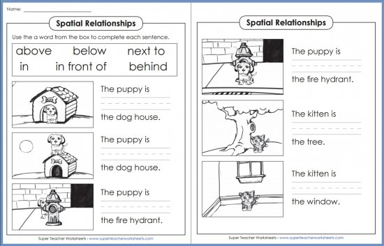 Spatial Relationships Activity