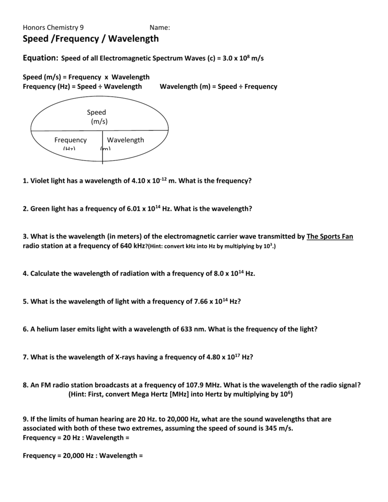 Speed Of Light Worksheet The Best Worksheets Image Collection