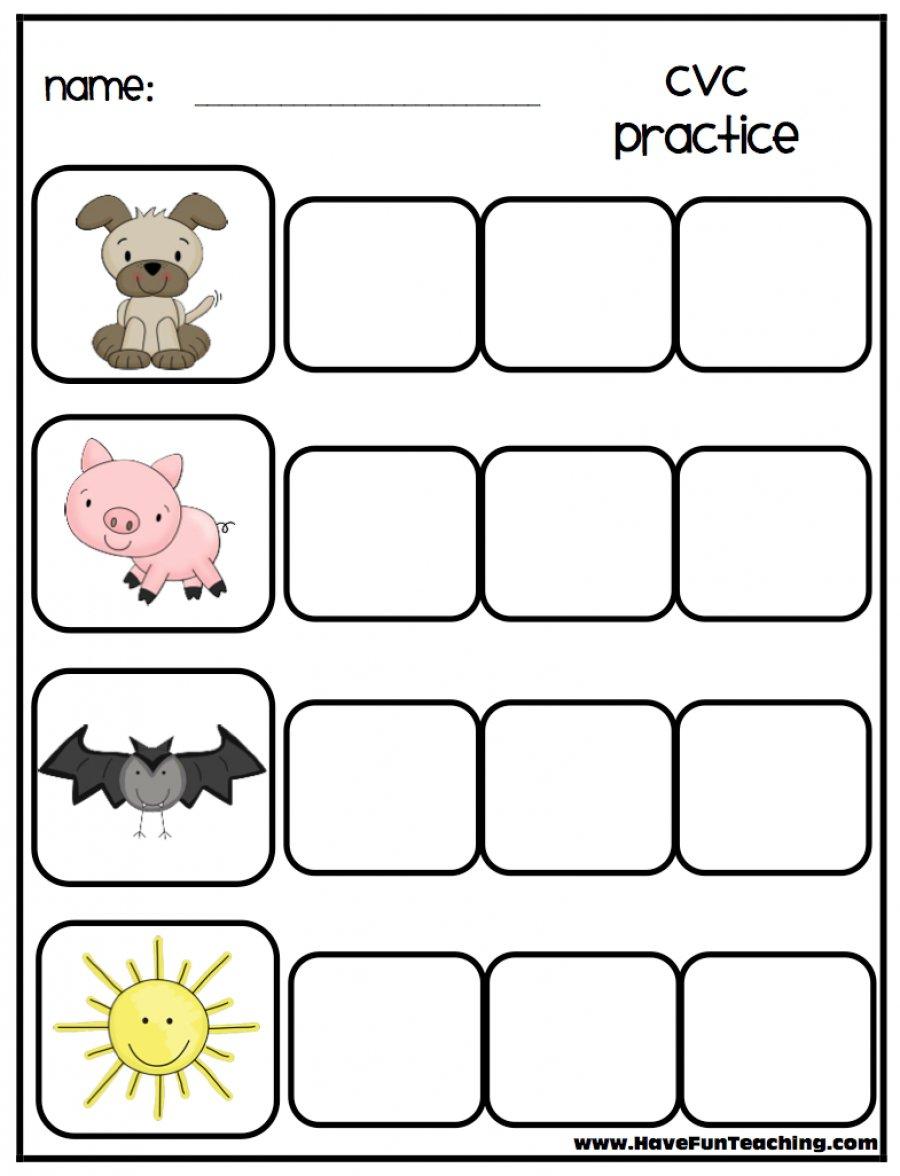 Spelling Cvc Words Worksheet The Best Worksheets Image Collection