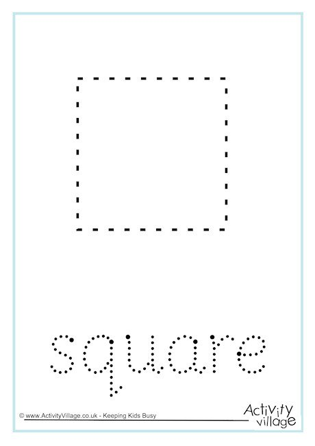 Square Word Tracing
