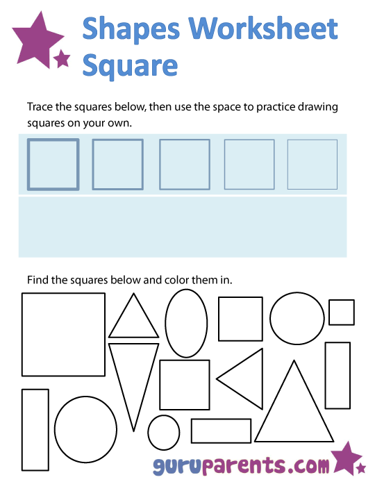 Square Worksheet For Preschool