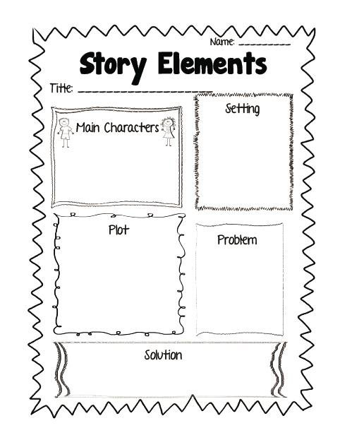 Story Elements Worksheets Story Structure Worksheet 2nd Grade