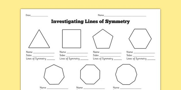 Symmetry Worksheet Year 5