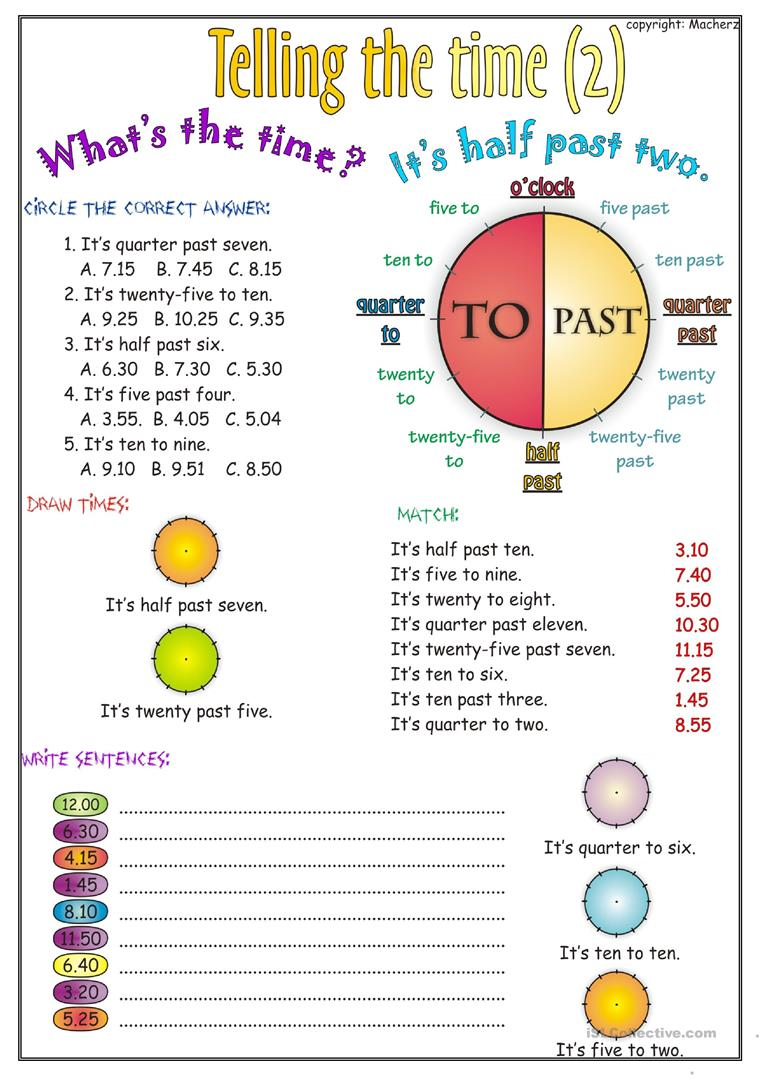 Telling The Time Worksheets The Best Worksheets Image Collection