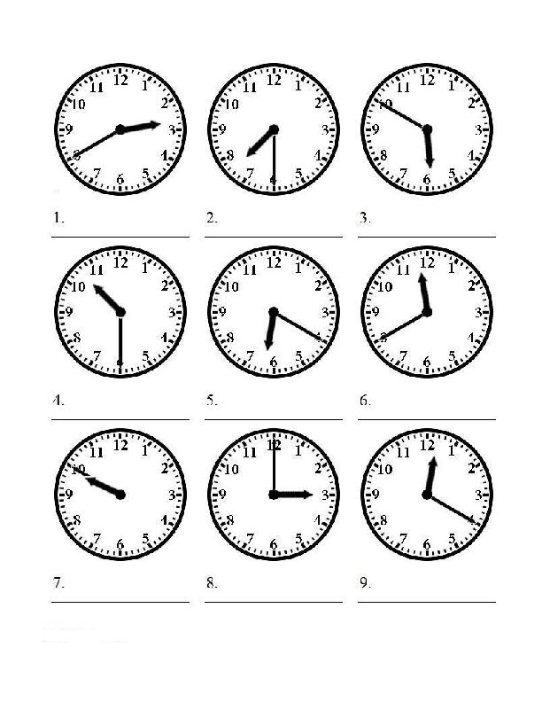 Telling Time Worksheets The Time Worksheet Download