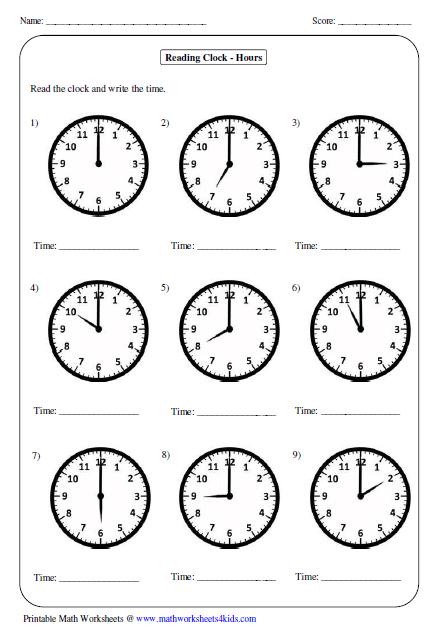 Telling Time Worksheets Time Worksheets Download