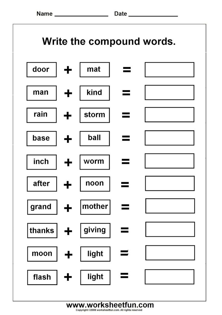 Thanksgiving Compound Word Worksheets The Best Worksheets Image