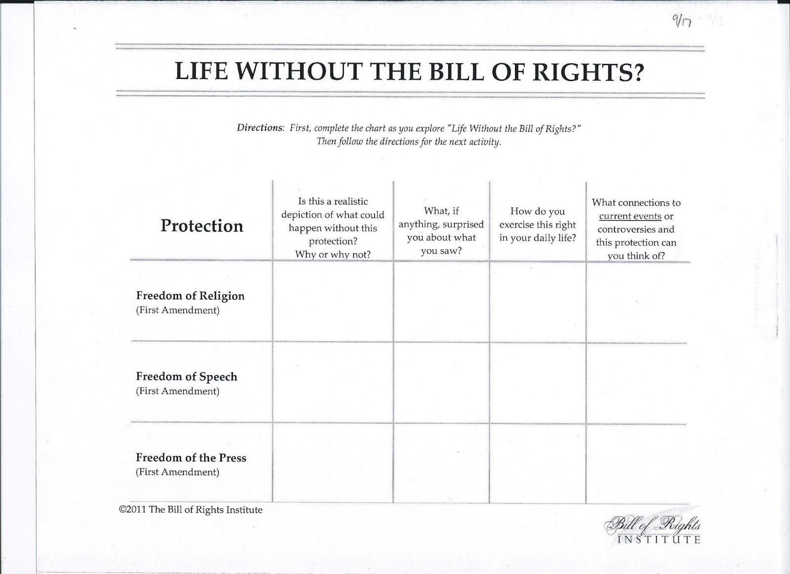 The Bill Of Rights Worksheets The Best Worksheets Image Collection