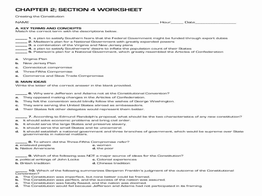 The Constitution Crossword Quickworksheets Net Worksheet