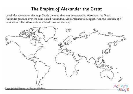 The Empire Of Alexander The Great Worksheet