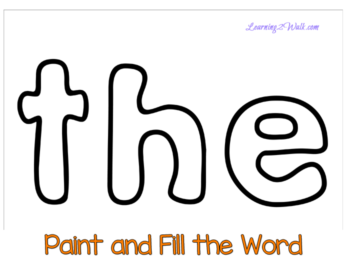 The Sight Word Worksheets