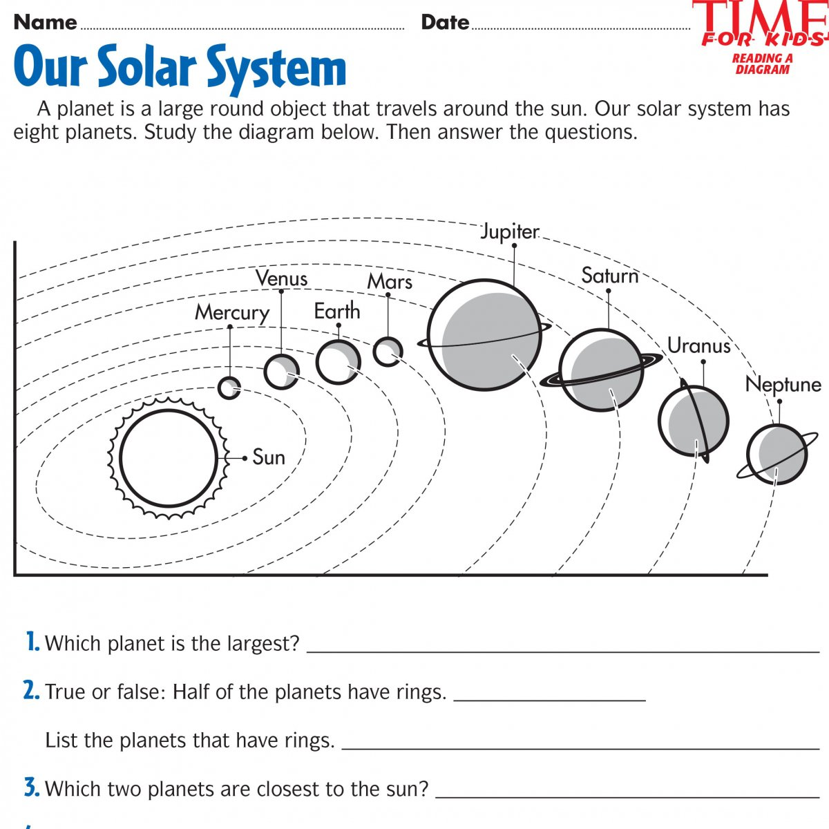 The Solar System The Sun Worksheet The Best Worksheets Image