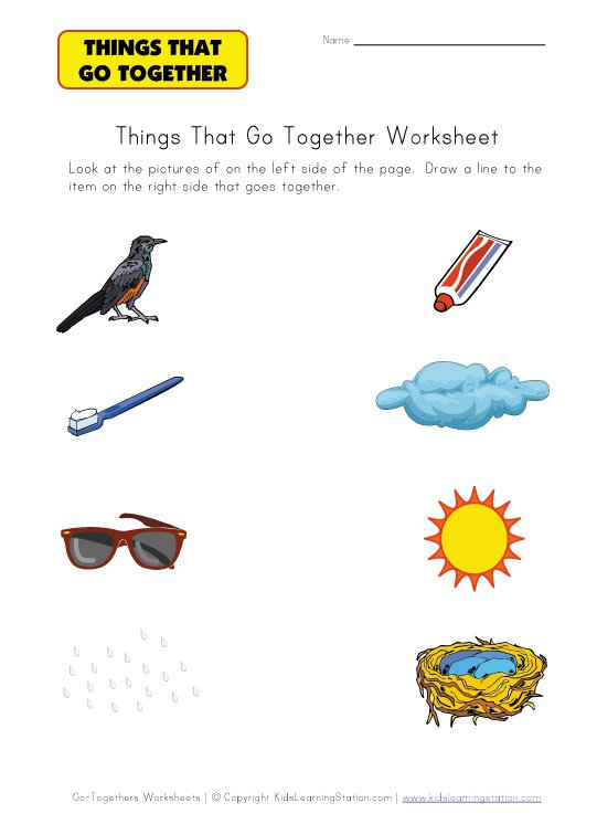 Things That Go Together Worksheet The Best Worksheets Image