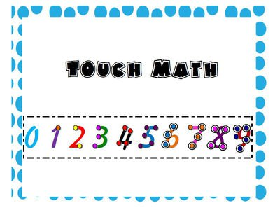 Touch Math Number Strips For Students