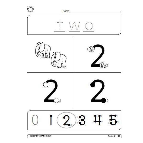 Touch Math Worksheets Strategies For Using Touch Math To Help