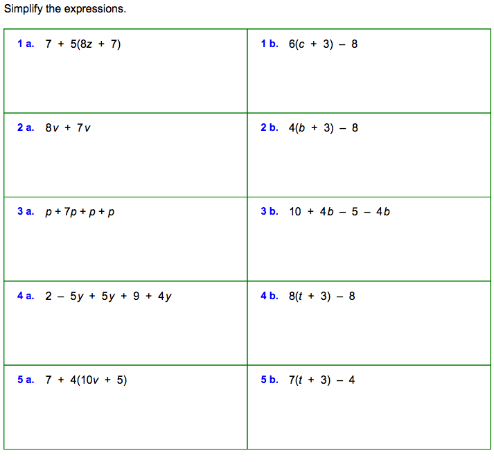 Transform 6th Grade Algebraic Expressions Practice With Additional