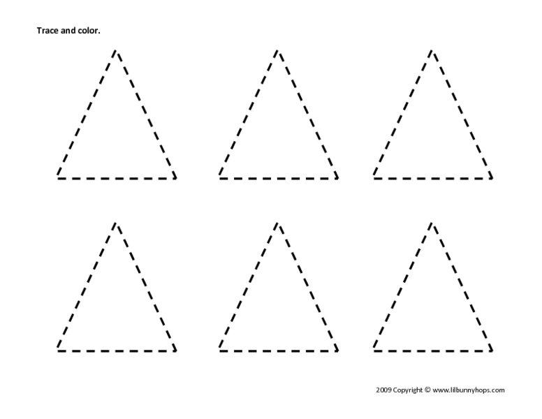 Triangle Worksheet Preschool