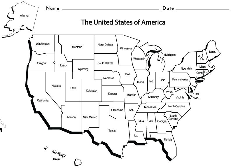 United States Of America Name The State Worksheet Answers The Best