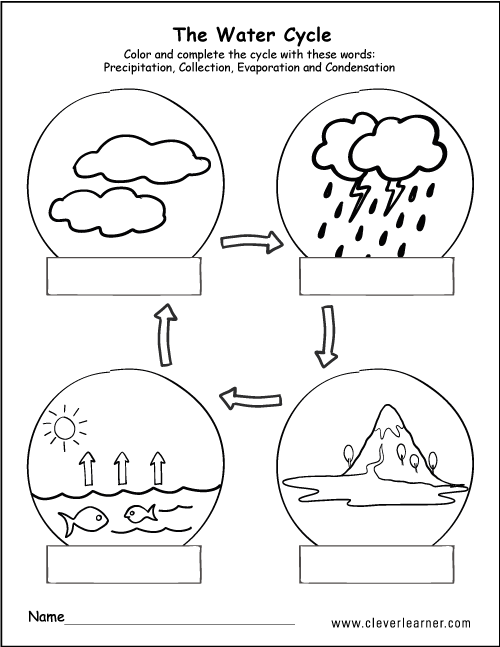 Water Cycle Worksheets Kids The Best Worksheets Image Collection