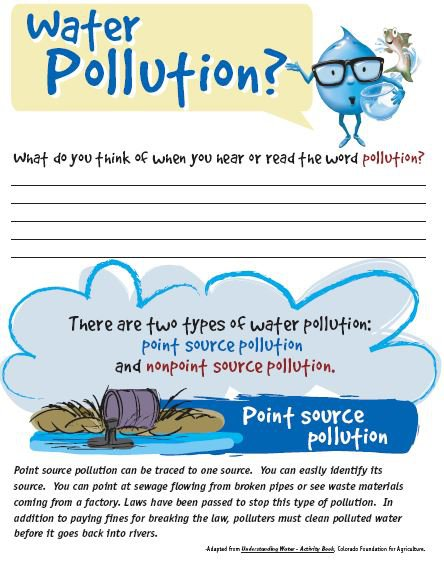 Water Pollution Worksheet Rfc Point Or Nonpoint Source Pollution