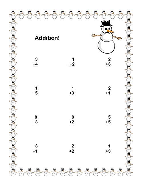 Winter Subtraction Worksheets The Best Worksheets Image Collection