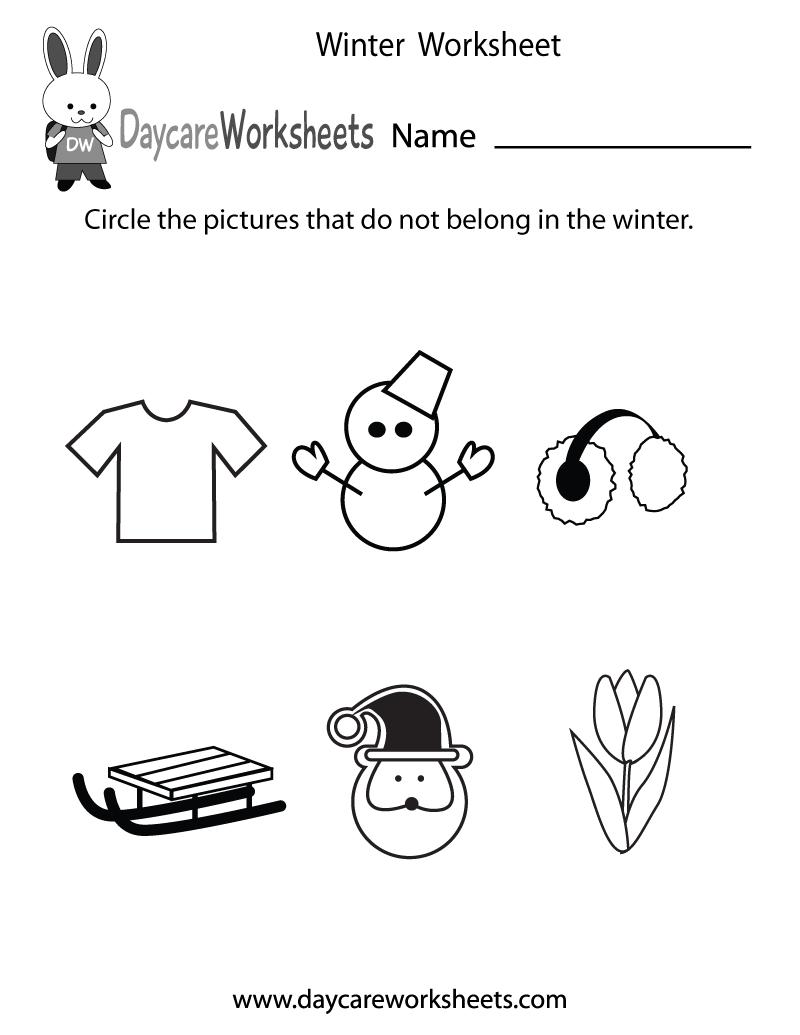 Winter Worksheets For Preschoolers The Best Worksheets Image