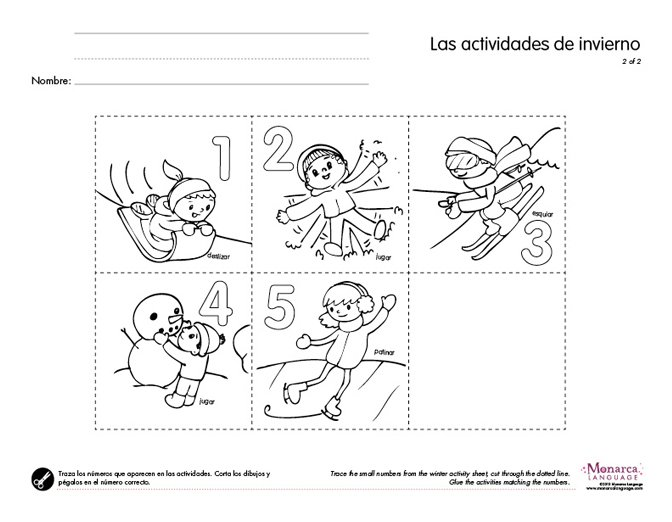 Winter Worksheets Winter Activities4s Printables Download