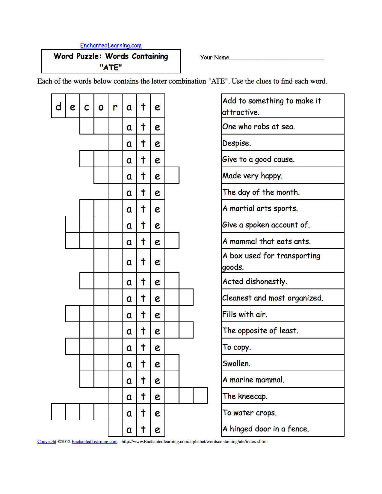 Word Chain Worksheet Images