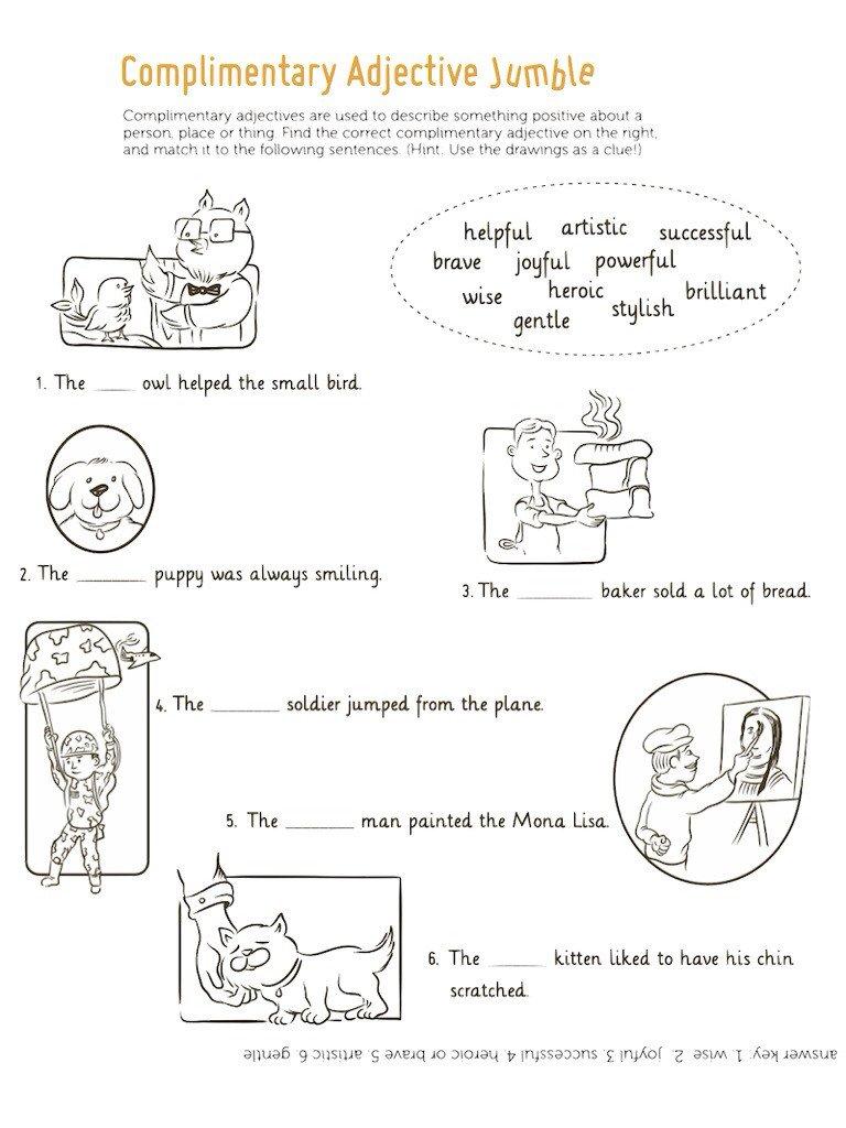 Worksheet For Class 1 English Grammar
