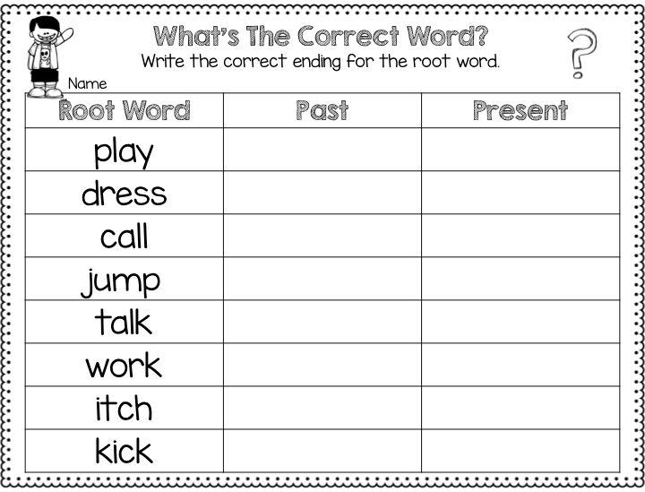 Worksheet For Words Ending In Ed 705699