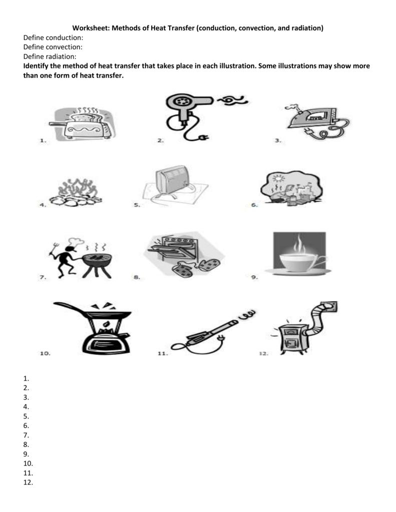 Worksheet Methods Of Heat Transfer Answers Resume
