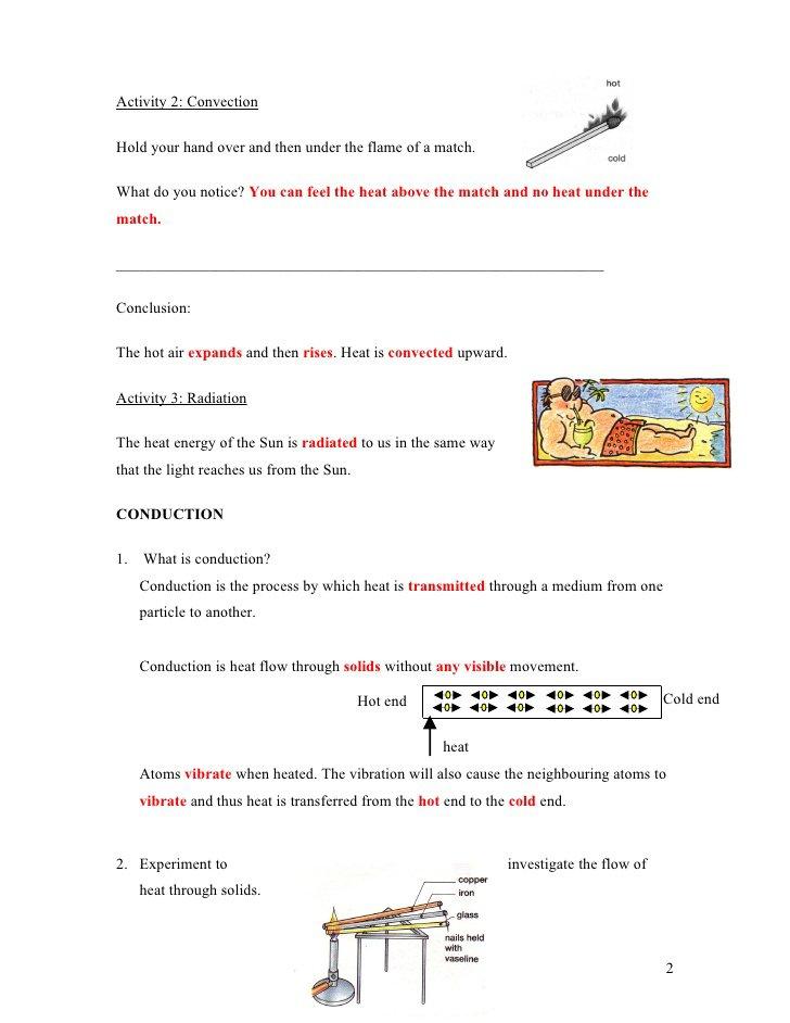 Worksheet Methods Of Heat Transfer Worksheet