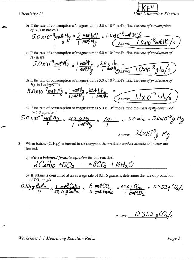 Worksheet On Composition Stoichiometry