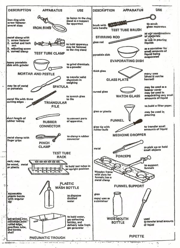 Worksheet Science Lab Equipment 418877
