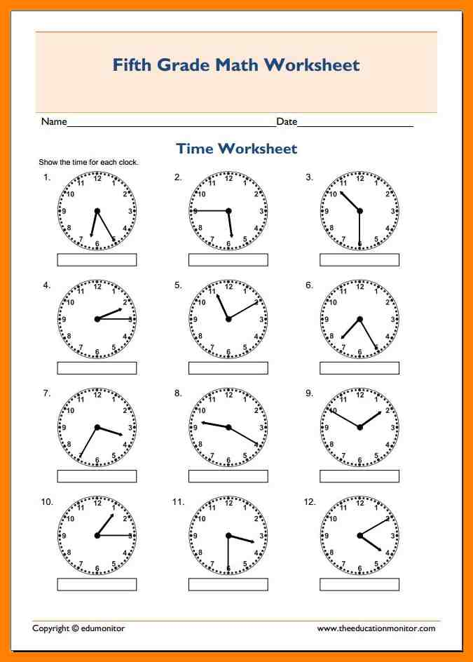 Worksheets For 5th Graders The Best Worksheets Image Collection