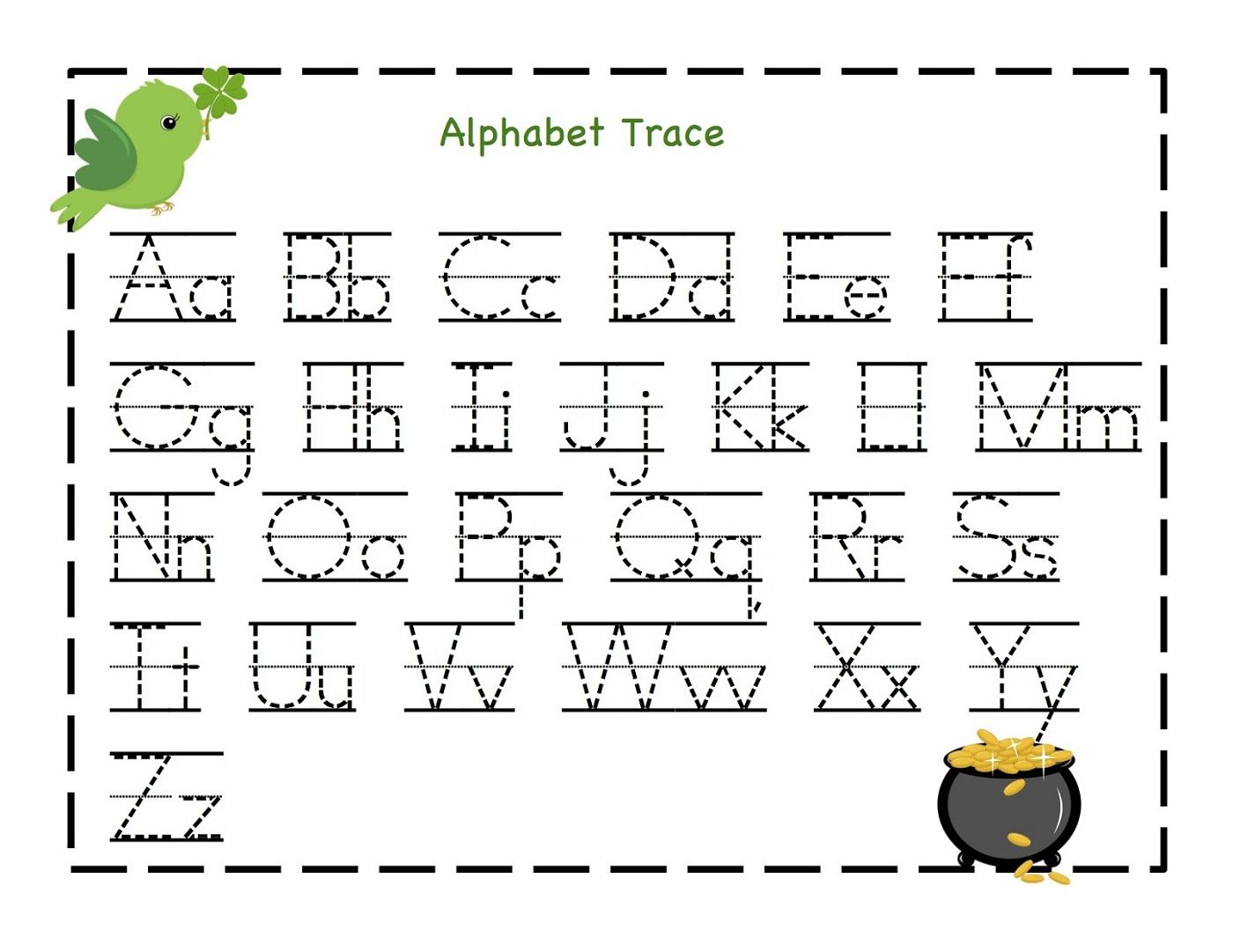 Worksheets For Preschoolers Tracing Letters 585720