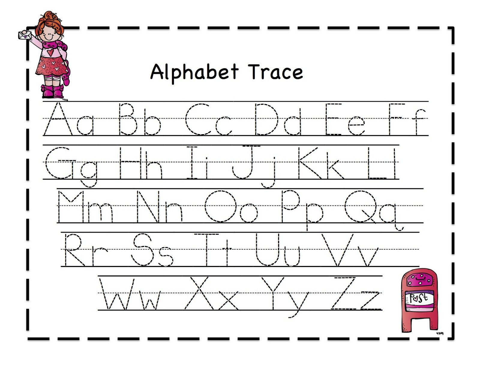 Worksheets For Preschoolers Tracing Letters 585728
