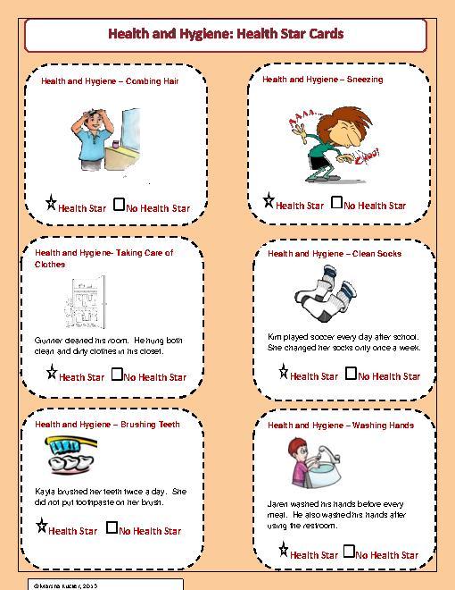 Worksheets For Teaching Hygiene