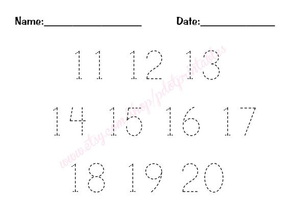 Worksheets For Teaching Numbers 11 20