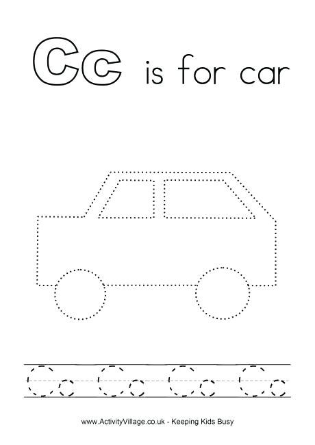 Worksheets For Toddlers Tracing Alphabet C Alphabet Coloring