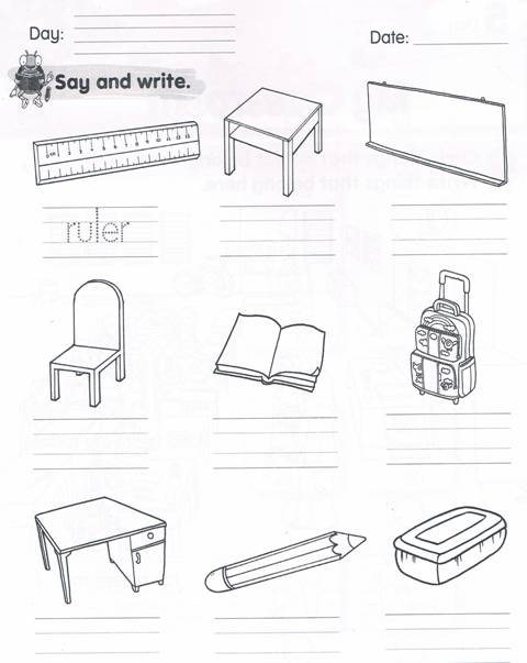 Worksheets My Classroom