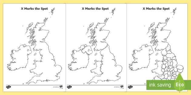 X Marks The Spot England Geography Worksheets Maps Map On