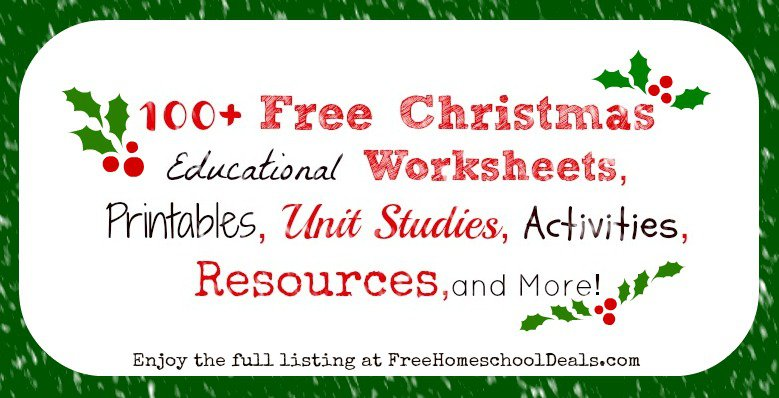 100+ Free Christmas Educational Worksheets, Printables, Unit