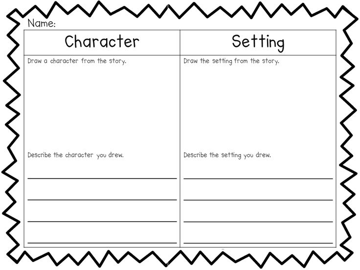 1st Grade Worksheets Character And Setting  Worksheet  Free